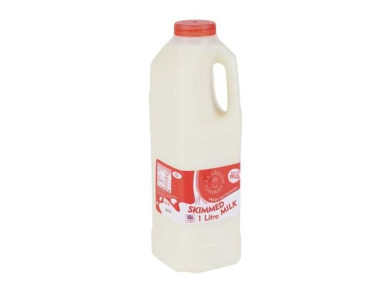 Skimmed Milk -  Poly Bottle (1 Litre)