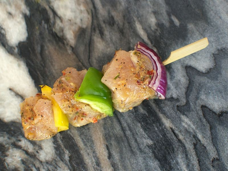 2 x Ginger, Chilli & Lime Chicken Kebabs (150g min each)