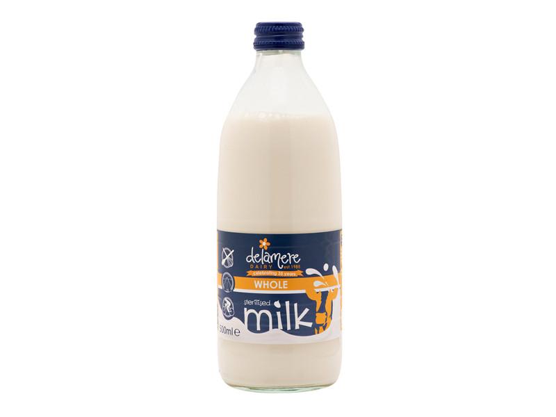 Delamere Sterilised Whole Milk - Glass Bottle (500ml)