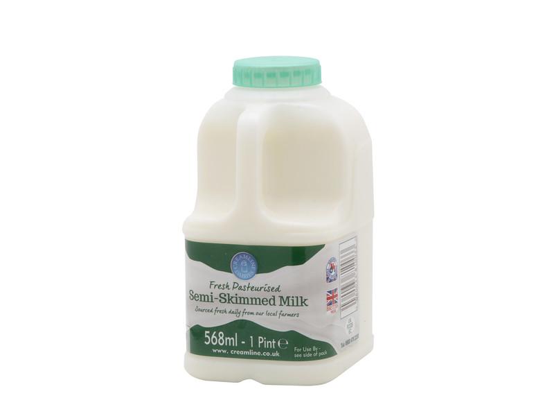 Semi-Skimmed Milk - Poly Bottle (568ml/ 1 Pint)
