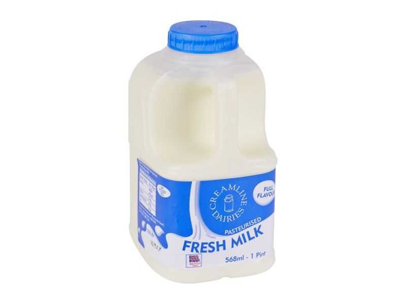 Whole Milk -  Poly Bottle (568ml/ 1 Pint)