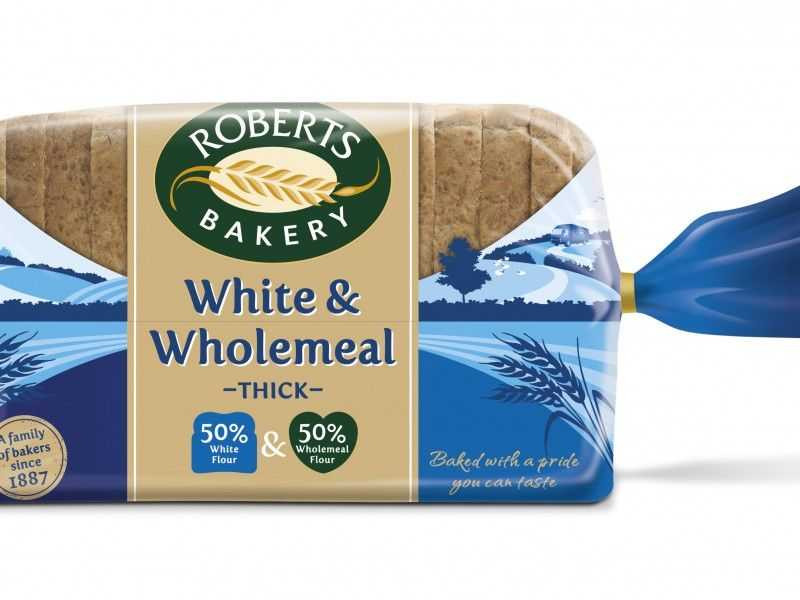 White & Wholemeal Thick Sliced Bread (800g)