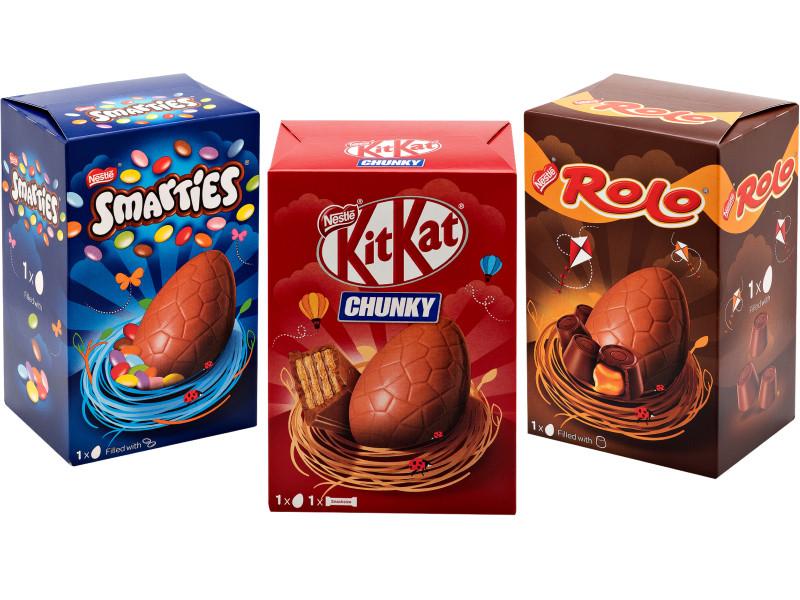 Cadbury x 3 Easter Eggs(Oreo 123g,Mini Eggs 130g,Buttons 128g)