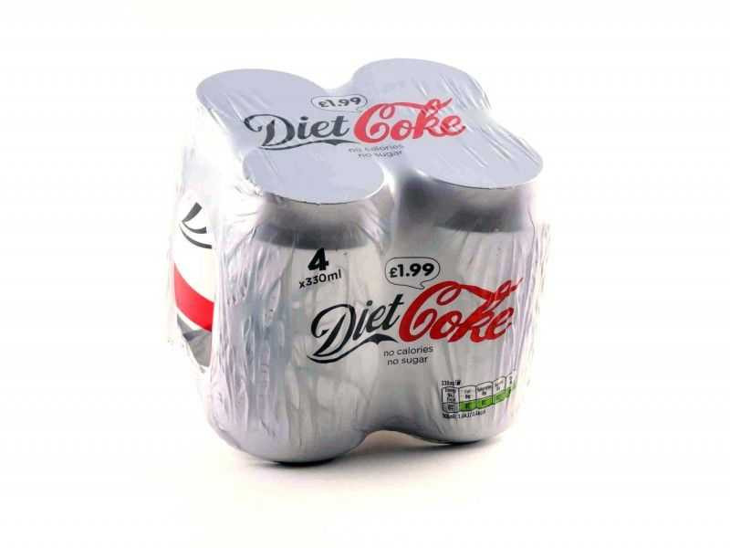 Diet Coke Multipack Cans (4 x 330ml)