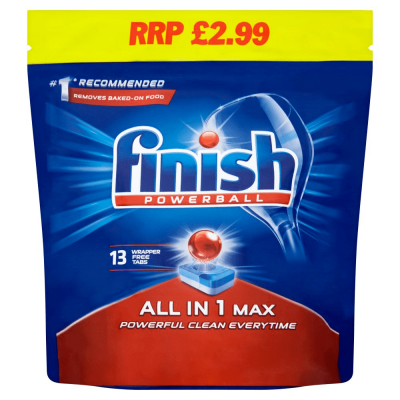 Finish Powerball All in One Dishwasher Tablets ( x13)