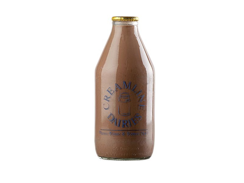 Creamline's chocolate flavoured milk (568ml/ 1 Pint)
