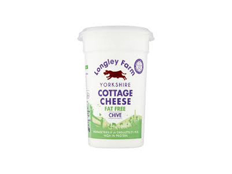 Longley Farm Fat Free Cottage Cheese with Chive (250g)