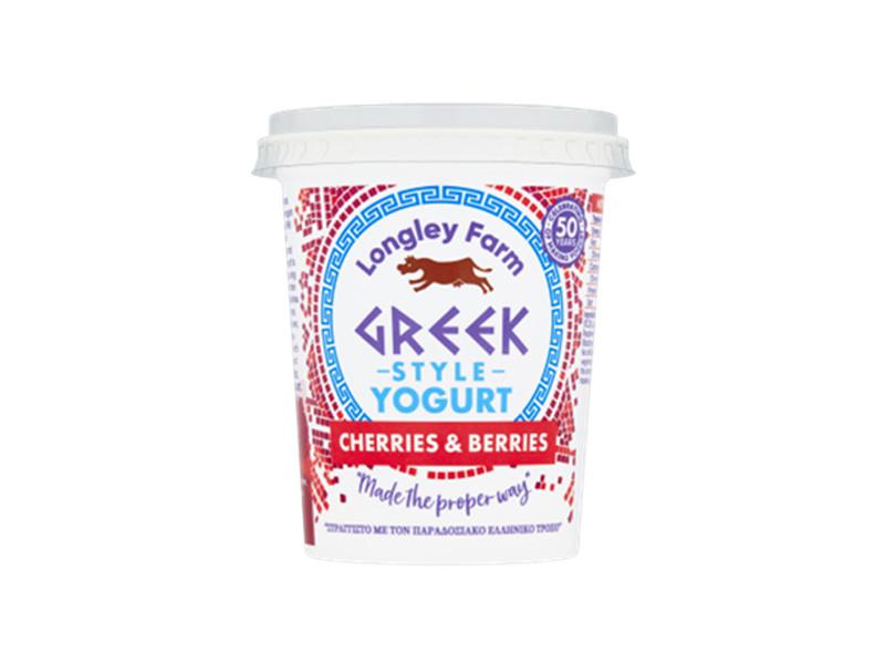 Longley Farm Greek Style Yogurt with Cherries & Berries (450g)