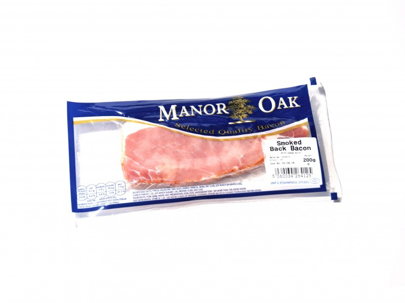 Manor Oak Back Bacon - Smoked (200g)