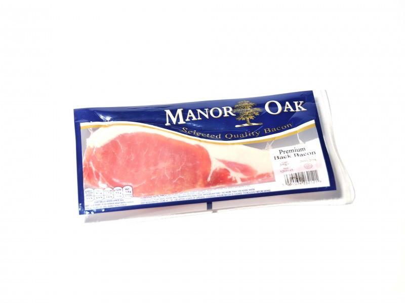 Manor Oak Back Bacon - Unsmoked (200g)