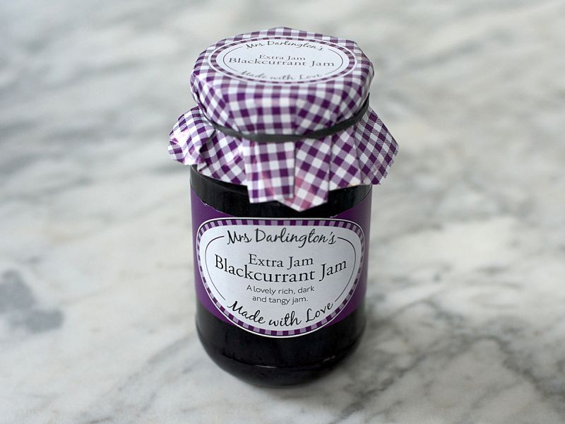 Mrs Darlington's Blackcurrant Jam (340g)