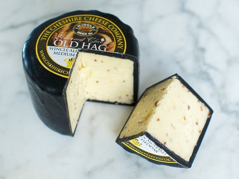 Old Hag Ale & Mustard Cheese Truckle (200g)