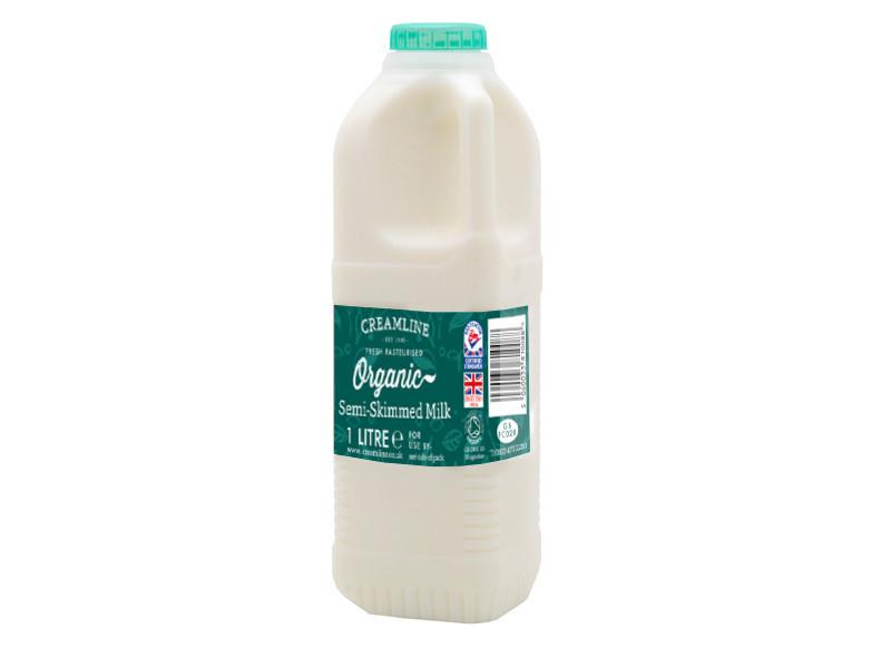 Organic Semi-Skimmed Milk - Poly Bottle (1 Litre)
