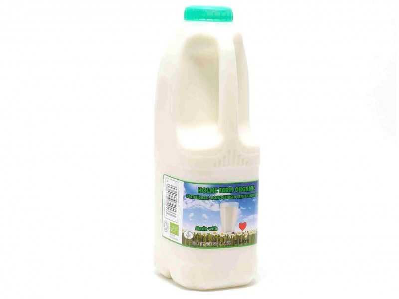 Organic Semi-Skimmed Milk - Poly Bottle (1 Litre)