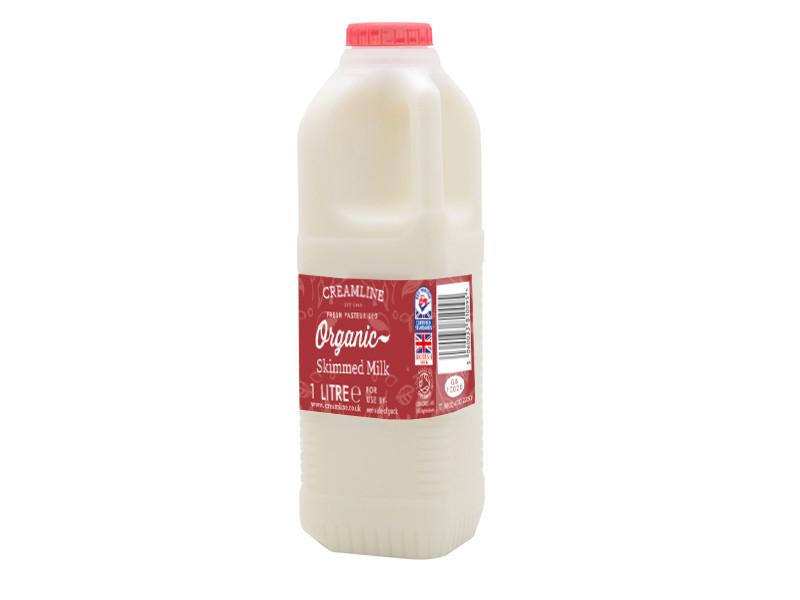 Organic Skimmed Milk - Poly Bottle (1 Litre)