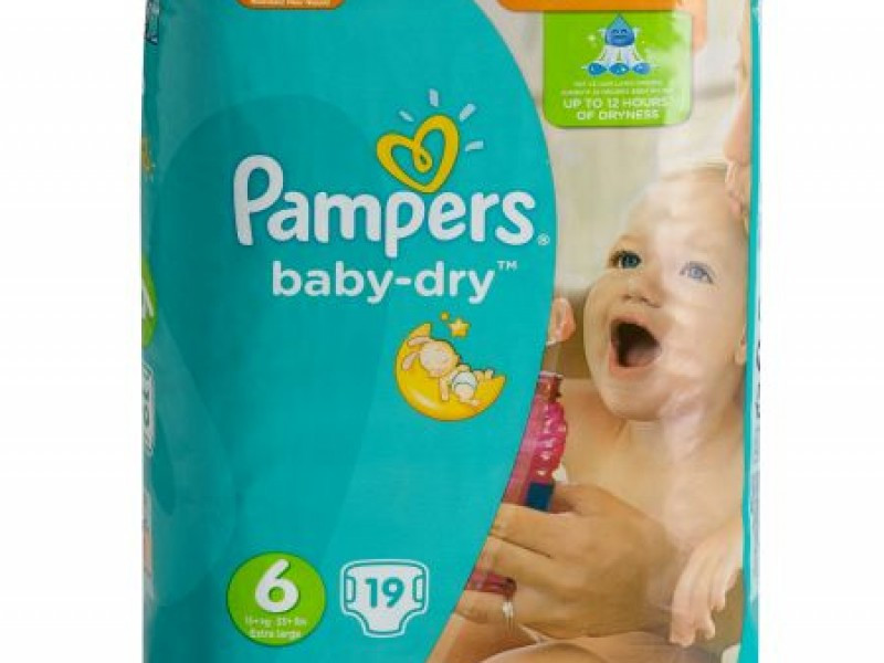 Pampers Baby Dry Nappies Size 6 (x 17)