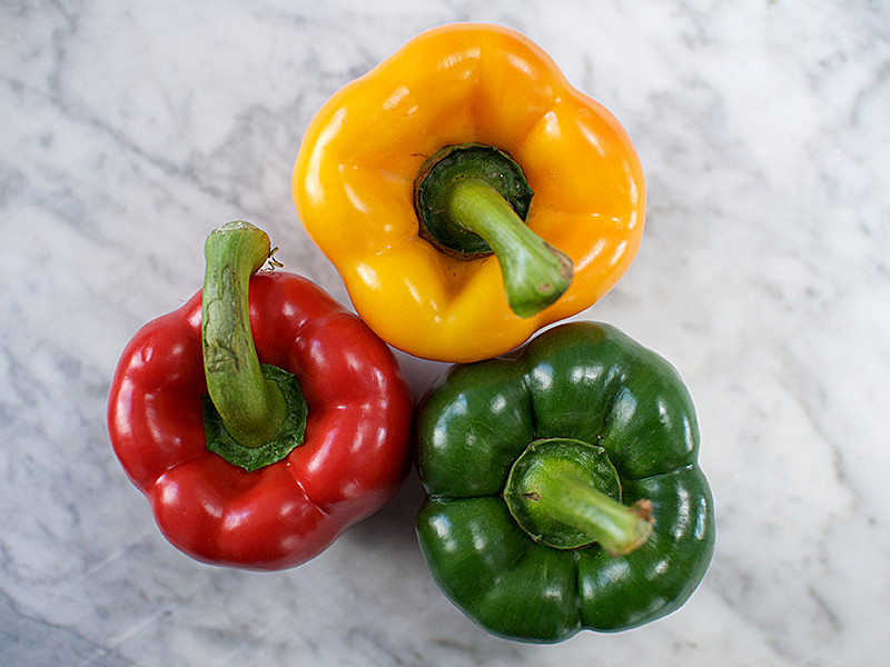 Peppers x 3 Tri-Colour (500g pack)