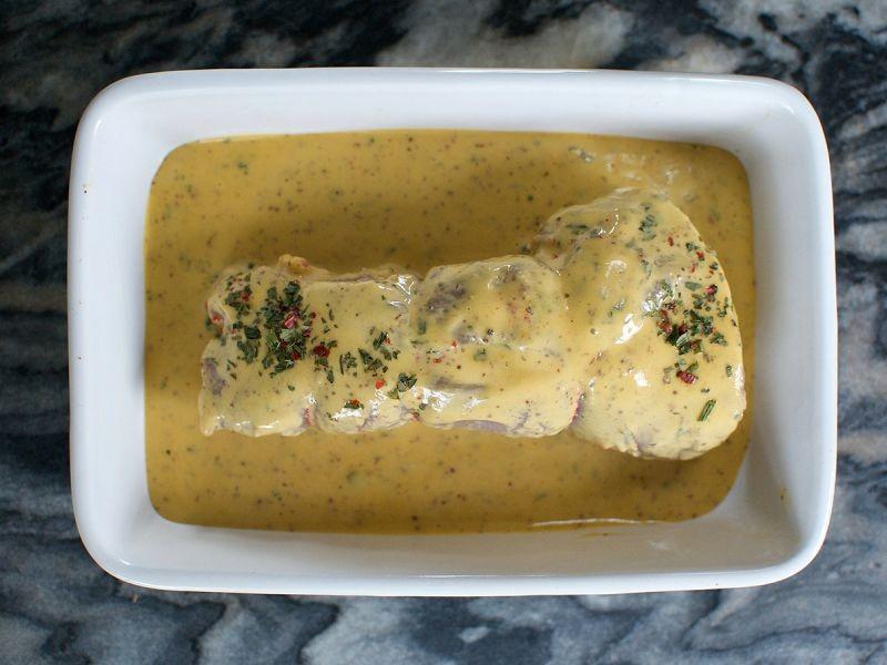 Pork Tenderloin (Stuffed with sausage meat in honey mustard sauce)  400g