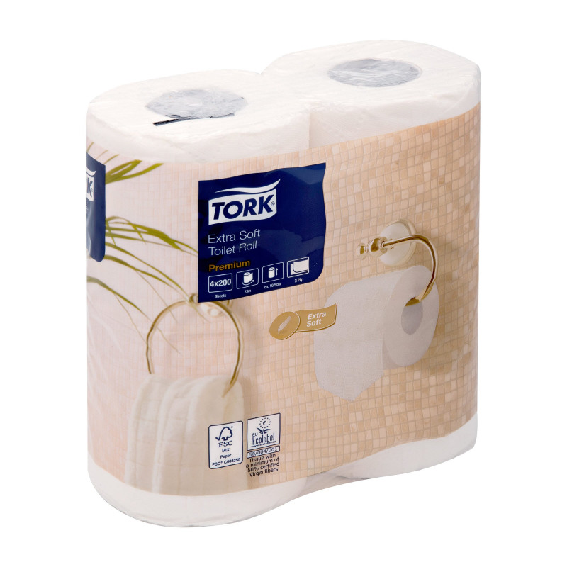 Premium 2 Ply Toilet Rolls (4 Rolls)