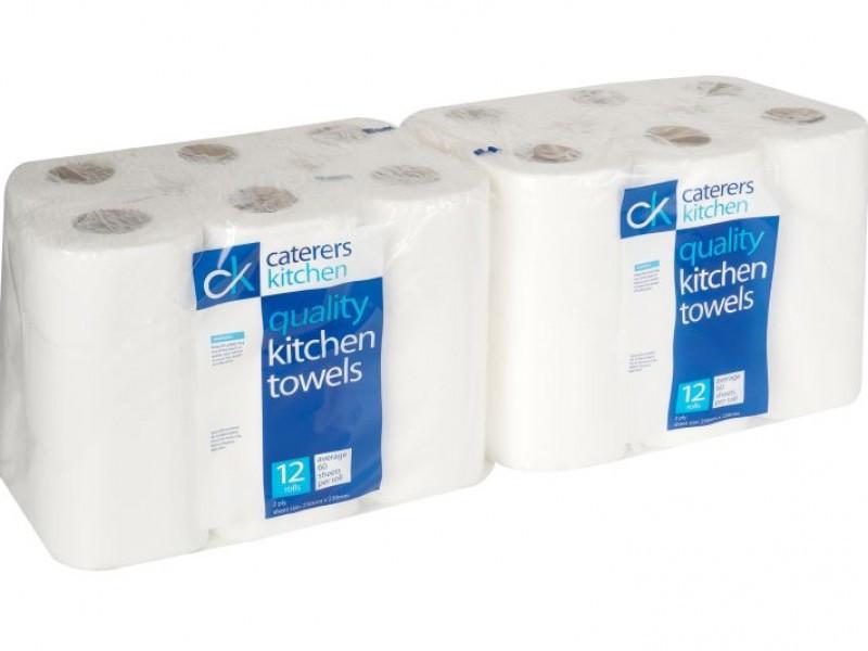 Quality Kitchen Paper Towels (12 Rolls)