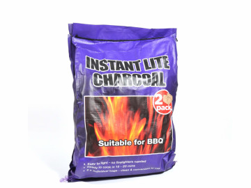 2 Pack Instant Lighting Lumpwood Charcoal