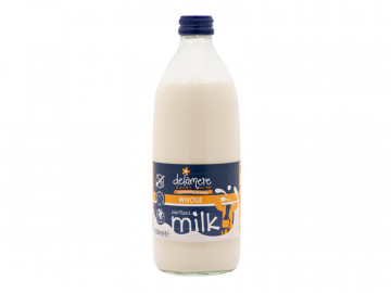 Delamere Sterilised Whole Milk - Glass Bottle (500ml)