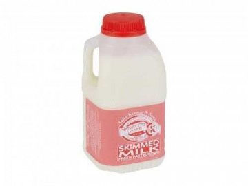 Kosher Skimmed Pasteurised Milk - Poly Bottle (500ml)