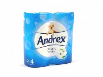 Andrex Classic White Toilet Tissue ( x 4)