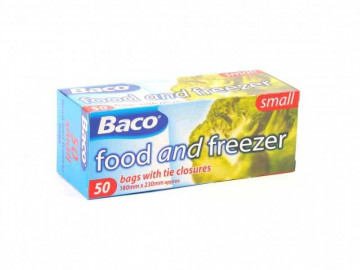 Baco 50 Food & Freezer Bags (180mm x 230mm approx)