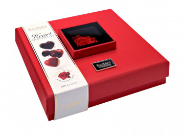 Bostani Rose Box Chocolate Hearts Collection 175g