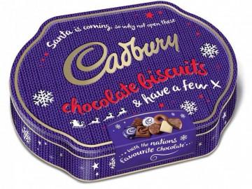 Cadbury Christmas Biscuits Tin (247g)
