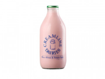 Creamline's strawberry flavoured milk (568ml/ 1 Pint)