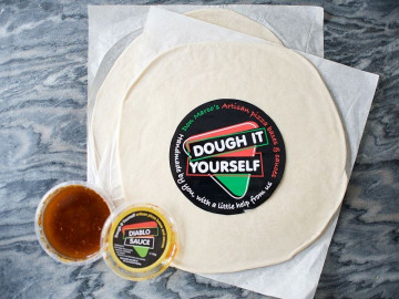 Pizza Bases x 2 with Diablo Sauce Dough It Yourself