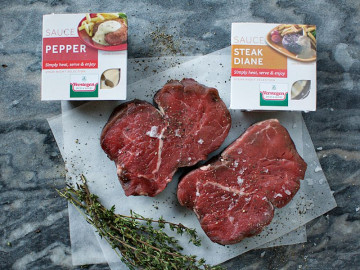 Fillet Steaks (2 x 226g) with Diane & Pepper Sauce
