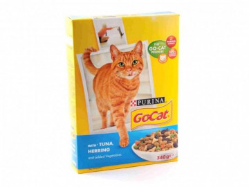 Go Cat with Tuna, Herring and added vegetables (340g)