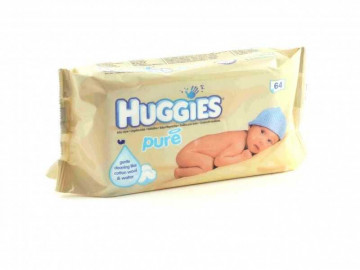 Huggies Pure Baby Wipes (x 64)