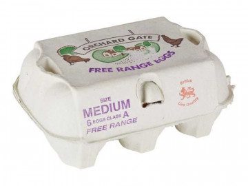 Medium Free Range Local Eggs (x 6)
