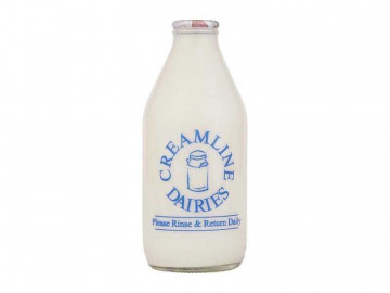 Organic Semi-Skimmed Milk - Glass Bottle (568ml/ 1 Pint)