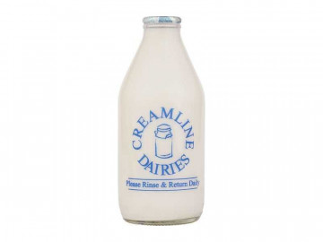 Organic Skimmed Milk - Glass Bottle (568ml/ 1 Pint)