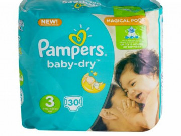 Pampers Baby Dry Nappies Size 3 (x 22)