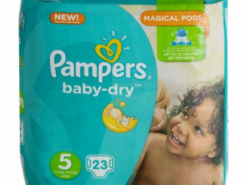 Pampers Baby Dry Nappies Size 5 (x 17)