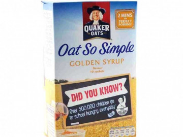 Quaker Oat So Simple Golden Syrup (10 x 36g sachets)