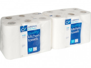 Quality Kitchen Paper Towels (12 Rolls)