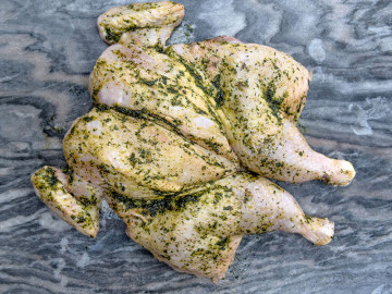 Spatchcock Chicken (Large) Wild Garlic Seasoning 1.8kg