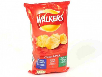 Walkers Classic Variety 6 Pack Crisps (25g)